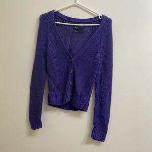 American Eagle Purple Loose Knit Cardigan Size S